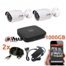2 HD-CVI HD (1080) raiškos lauko/vidaus kamerų komplektas CVI-2