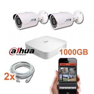 2 IP lauko/vidaus kamerų stebėjimo sistema 4 Mp, SK-IP1