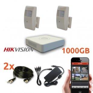 2 slaptų kamerų stebėjimo sistema su laidais, SLAPT1,700TVL