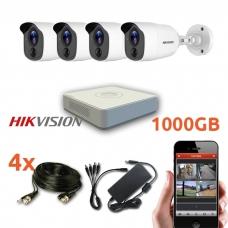 4 HD lauko/vidaus Hikvision vaizdo stebėjimo sistema, EKO7-T