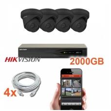 4 IP lauko/vidaus kamerų stebėjimo sistema 4 Mp, SK-IP29_J