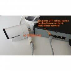 4 IP lauko/vidaus kamerų stebėjimo sistema 4 Mp, SK-IP35
