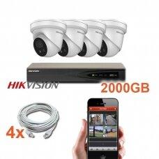 """4 IP lauko/vidaus """"Acusense"""" kamerų stebėjimo sistema 4 Mp, SK-IP41"""