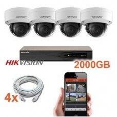 4 IP lauko/vidaus kamerų stebėjimo sistema 4 Mp, SK-IP5K