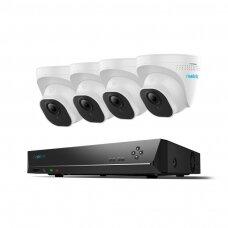 4 IP lauko/vidaus kamerų stebėjimo sistema RLK8-520D4-A