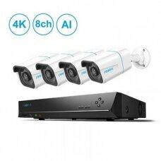 4 IP lauko/vidaus kamerų stebėjimo sistema RLK8-810B4-A
