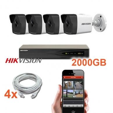 4 IP lauko/vidaus kamerų stebėjimo sistema 4 Mp, SK-IP34