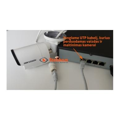 4 IP lauko/vidaus kamerų stebėjimo sistema 4 Mp, SK-IP34 2