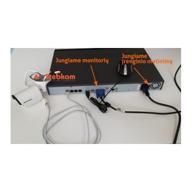 4 juodų IP lauko/vidaus kamerų stebėjimo sistema 4 Mp, SK-IP34_j 2