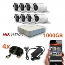 8 HD Lauko/Vidaus kamerų HIKVISION stebėjimo sistema SK-TURBOHD8