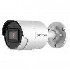 8 Megapikselių lauko/vidaus cilindrinė IP kamera Hikvision bullet DS-2CD2086G2-IU F6 IR iki 30 metrų, microSD, 4k raiška