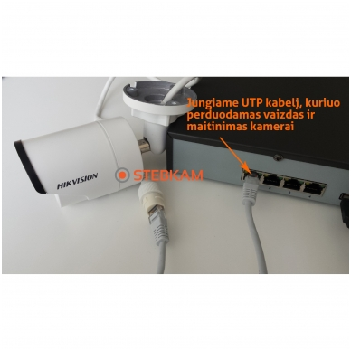 8 IP lauko/vidaus kamerų stebėjimo sistema 4 Mp, SK-IP26 4