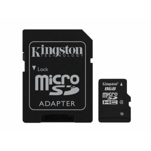 Atminties kortelė - Kingston Micro SD 8 GB Class 10, SDC10/8GB