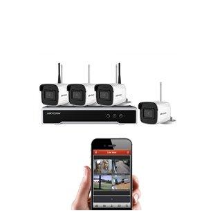 Belaidė 4 IP lauko/vidaus kamerų stebėjimo sistema, NK44W0H-1T(W
