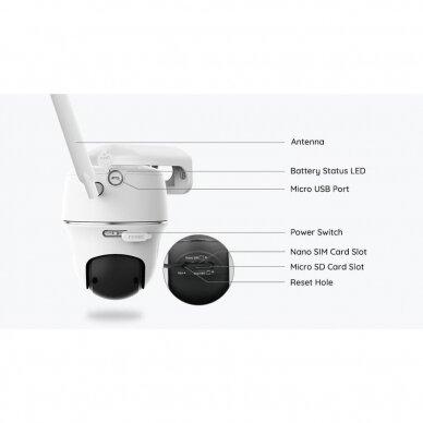 Bevielė 4G LTE, 2 megapikselių valdoma kamera Reolink Go PT su saulės energijos kolektoriumi 5