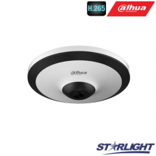 Fish-Eye IP kamera STARLIGHT 5MP 25fps, 360°, IR iki 10m., H.265+/H.265, mikrofonas, WDR
