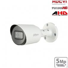 "HD-CVI cilindrinė kam. 5MP su IR pašvietimu iki 30m.,1/2.7"" 2.8mm 93°, IP67, su mikrofonu"