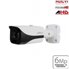 "HD-CVI cilindrinė kam. 6MP su IR pašvietimu iki 40m.,1/2.7"" 2.8mm 89°, IP67, su mikrofonu"