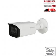 """HD-CVI cilindrinė kam. STARLIGHT 5MP, LXIR pašvietimas iki 80m., 1/2.8"""" 2.7-13.5mm, IP67, su mikrofo"""
