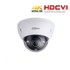 HD-CVI kamera kupolinė 4K 8MP 3840×2160 STARLIGHT su IR iki 50m. 3.7-11mm. WDR, IP67