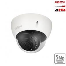 "HD-CVI kupolinė kam. 5MP su IR pašvietimu iki 30m., 1/2.7"" 2.8mm 98°, IP67, IK10"