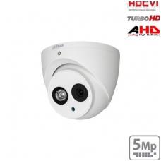 "HD-CVI kupolinė kam. 5MP su LXIR pašvietimu iki 50m., 1/2.7"" 2.8mm 98°, IP67, su mikrofonu"