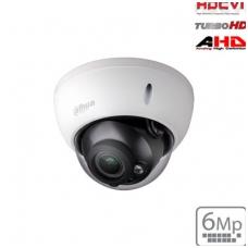 """HD-CVI kupolinė kam. 6MP, IR pašvietimas iki 30m., 1/2.9"""" 2.7-13.5mm, IP67, IK10"""