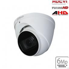 """HD-CVI kupolinė kam. 6MP, LXIR pašvietimas iki 60m., 1/2.9"""" 2.7-13.5mm, IP67, su mikrofonu"""