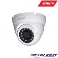 """HD-CVI kupolinė kam. STARLIGHT 5MP, IR pašvietimas iki 30m., 1/2.8"""" 2.8mm 98°, IP67, su mikrofonu"""