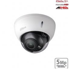HD-CVI kupolinė kamera 5MP su IR iki 30m. 2.7~12mm 98°~34°, IP67, IK10, Lite serija