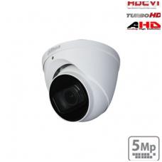 HD-CVI kupolinė kamera 5MP su LXIR iki 60m. 2.7~12mm 98°~34°, IP67, Lite serija, su mikrofonu