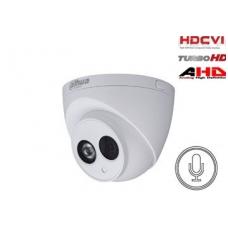 HD-CVI, TVI, AHD, CVBS kamera kupolinė 2MP su IR iki 50m, 2.8mm.