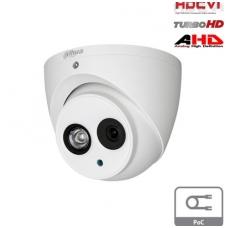 HD-CVI, TVI, AHD, CVBS kamera kupolinė 2MP su LXIR iki 50m, 2.8m