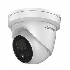 8 Megapikselių kupolinė lauko/vidaus kamera Hikvision DS-2CD2386G2-IU F4 IR iki 30 metrų, 4K raiška, micro SD