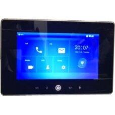 IP domofono monitorius su WIFI, 7 col. 1024x600,Micro SD kortelės prievadas,PoE(802.3af) juodas, SIP