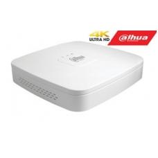 IP įrašymo įrenginys 4 kam., 4K 8MP, 1HDD, 80Mbps, 4PoE įėjimai,