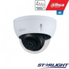 "IP kamera kupol. 4MP STARLIGHT AI, IR pašvietimas iki 50m, 1/3"" 2.8mm 103°, SMD, IVS, IP67, H.265,"