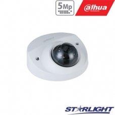 """IP kamera kupol. 5MP STARLIGHT AI, IR pašviet. iki 50m, 1/2.7"""" 2.8mm 98°, SMD, IVS, IP67, H.265,IK10"""