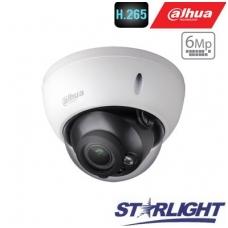 """IP kamera kupol.6MP STARLIGHT 20fps, IR 50m.,1/2.9"""" 2.7~13.5mm."""