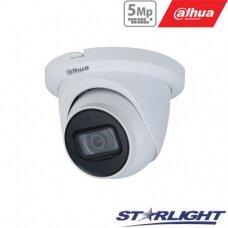 IP kamera kupolinė 5MP su IR iki 30m, 3.6mm 84°, WDR120dB, 3D-DNR, IP67, PoE , H.265, Mic