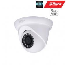 IP kamera kupolinė 5MP su (SMD) IR iki 30m, 2.8mm 96°, WDR120dB, 3D-DNR, IP67, PoE , H.265