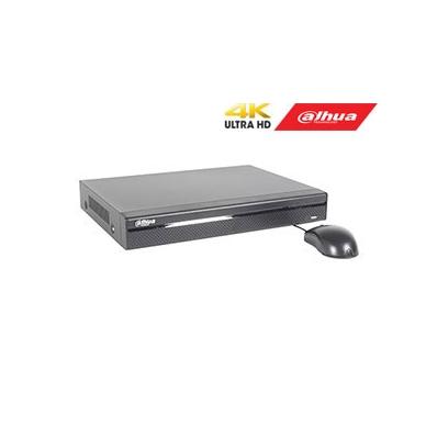 IP įrašymo įrenginys 4 kam., 4K 8MP, 1HDD,  80Mbps, 4PoE įėjimai, H.265/H.264, IVS
