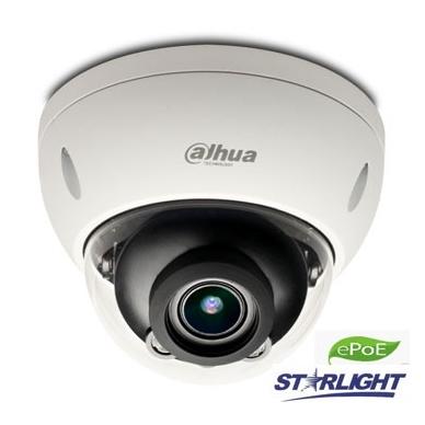 "IP kamera kupol. 2MP STARLIGHT su IR iki 50m. 1/2.8"",2.7-13.5mm. WDR, IP67,IVS,0.006Lux, IK10, ePoE"