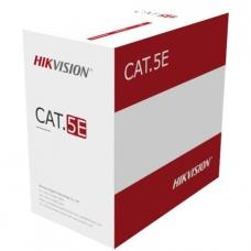 Kabelis ryšio Hikvision UTP 5E CCA (ritė 305m) DS-1LN5EU-G/CCA
