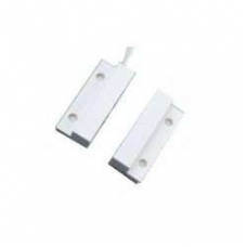Lipnus magnetinis kontaktas (laidas iš šono, 33x7x9mm, baltas)
