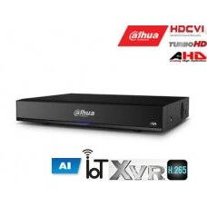 Pentabrid 4K įrašymo įreng. 8kam. HDCVI/AHD/TVI/CVBS/IP, 4K 7fps, 4MP 15fps, SMD Plus,H.265, 1HDD