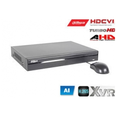 Pentabrid  įrašymo įreng. 16kam. HDCVI/AHD/TVI/CVBS/IP 2MP 15fps (non-realtime), H.265+,1HDD, SMD