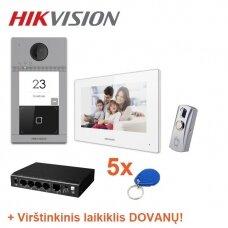 Hikvision IP vaizdo telefonsynės komplektas DOMO-1, vieno abonento